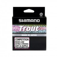 Леска Shimano Trout Competition Mono 150m красная 0,12мм (TROUTCM15012)