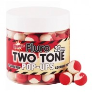Бойлы плав. Dynamite Baits Pop-Ups 20мм. Strawberry & coconut cream Two Tone (DY594) (клубника & кокосовый крем двухцветный)