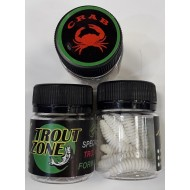 Trout Zone Ribber Pupa 45 мм White Crab / Белый Краб